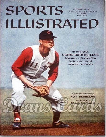 1957 Sports Illustrated - With Label   September 9  -  Roy McMillan (Cincinnati Reds)