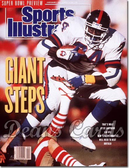 1991 Sports Illustrated - With Label   January 28  -  Ottis O.J. Anderson (NY Giants)