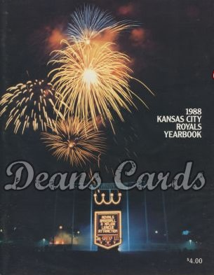 1988 Kansas City Royals Yearbook - Fireworks over Royals Staduim