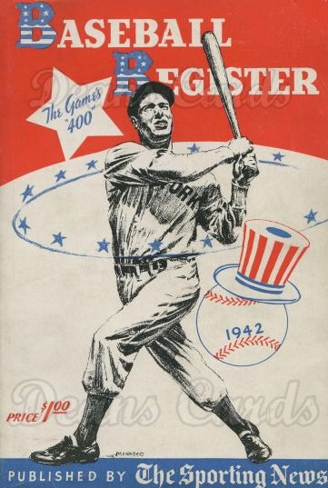 1942 Baseball Register   -  Joe DiMaggio  Issue