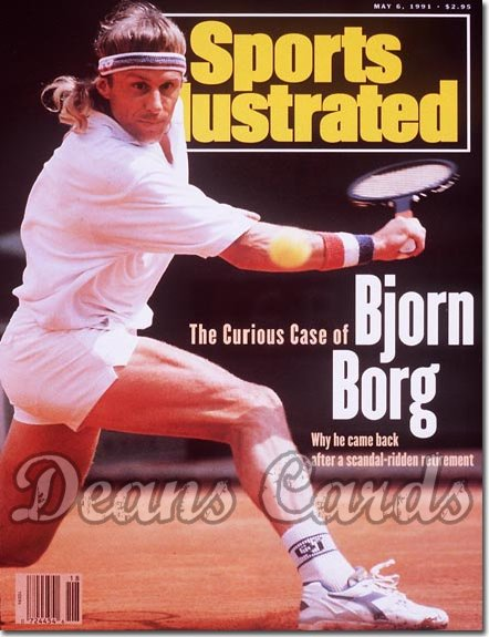 1991 Sports Illustrated - With Label   May 6  -  Bjorn Borg