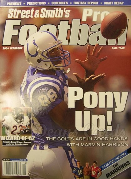 2004 Street & Smith's Pro Football   -  Marvin Harrison