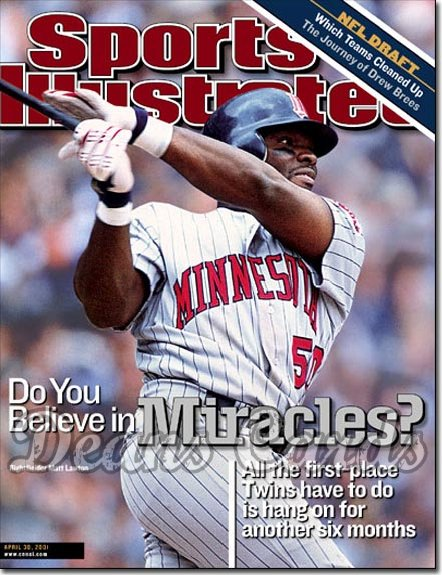 2001 Sports Illustrated   April 30  -  Matt Lawton (Minnesota Twins)