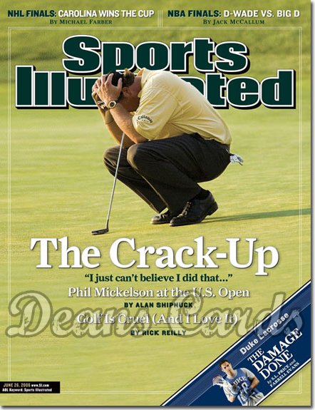 2006 Sports Illustrated - With Label   June 26  -  Phil Mickelson Golf no.2