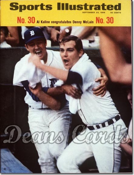 1968 Sports Illustrated   September 23  -  Denny McLain & Al Kaline Detroit Tigers
