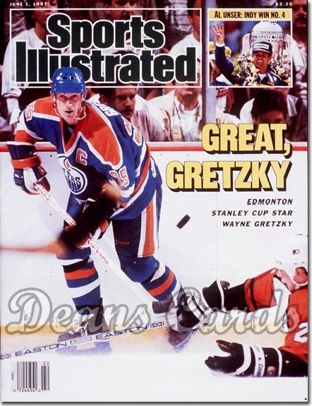 1987 Sports Illustrated - With Label   June 1  -  Wayne Gretzky (Edmonton Oilers)