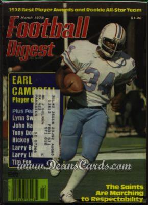 1979 Football Digest    March  - Earl Campbell