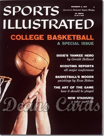 1957 Sports Illustrated - With Label   December 9  -  College Basketball Issue