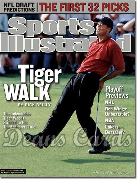 2002 Sports Illustrated - With Label   April 22  -  Tiger Woods