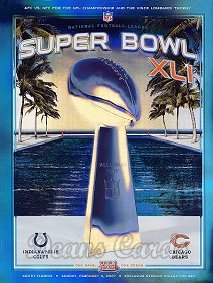 2007 Super Bowl XLI Program - Indianapolis vs. Chicago