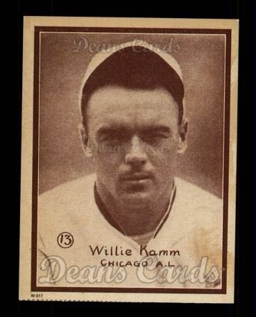1931 W517 Reprint #13  Willie Kamm