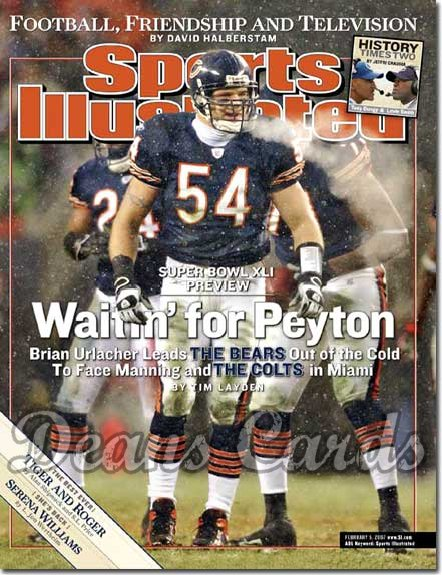 2007 Sports Illustrated - With Label   February 5  -  Brian Urlacher Chicago Bears Sports Illustra