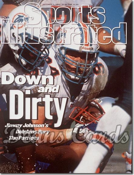 1996 Sports Illustrated - With Label   September 9  -  Steve Emtmann & Miami Dolphins Defense (Miami Dolphins)