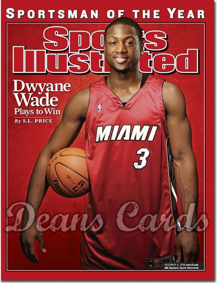 2006 Sports Illustrated - With Label   December 11  -  Dwyane Wade Miami Heat (SOY)