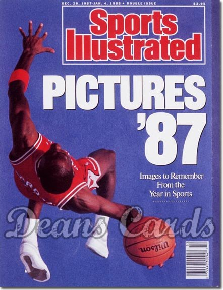 1987 Sports Illustrated - With Label   December 28  -  Michael Jordan (Chicago Bulls)