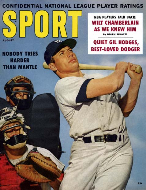 1960 Sport Magazine   -  Mickey Mantle  August