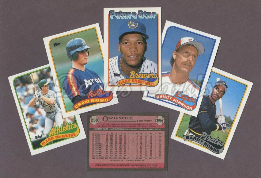 1989 Topps     Baseball Complete with Traded Set