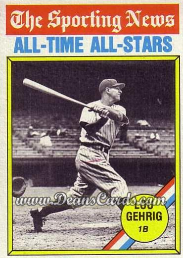 1976 O-Pee-Chee #341   -  Lou Gehrig All-Time All-Stars