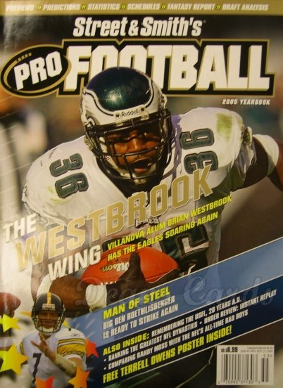 2005 Street & Smith's Pro Football   -  Brian Westbrook