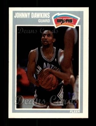 1989 Fleer #143  Johnny Dawkins