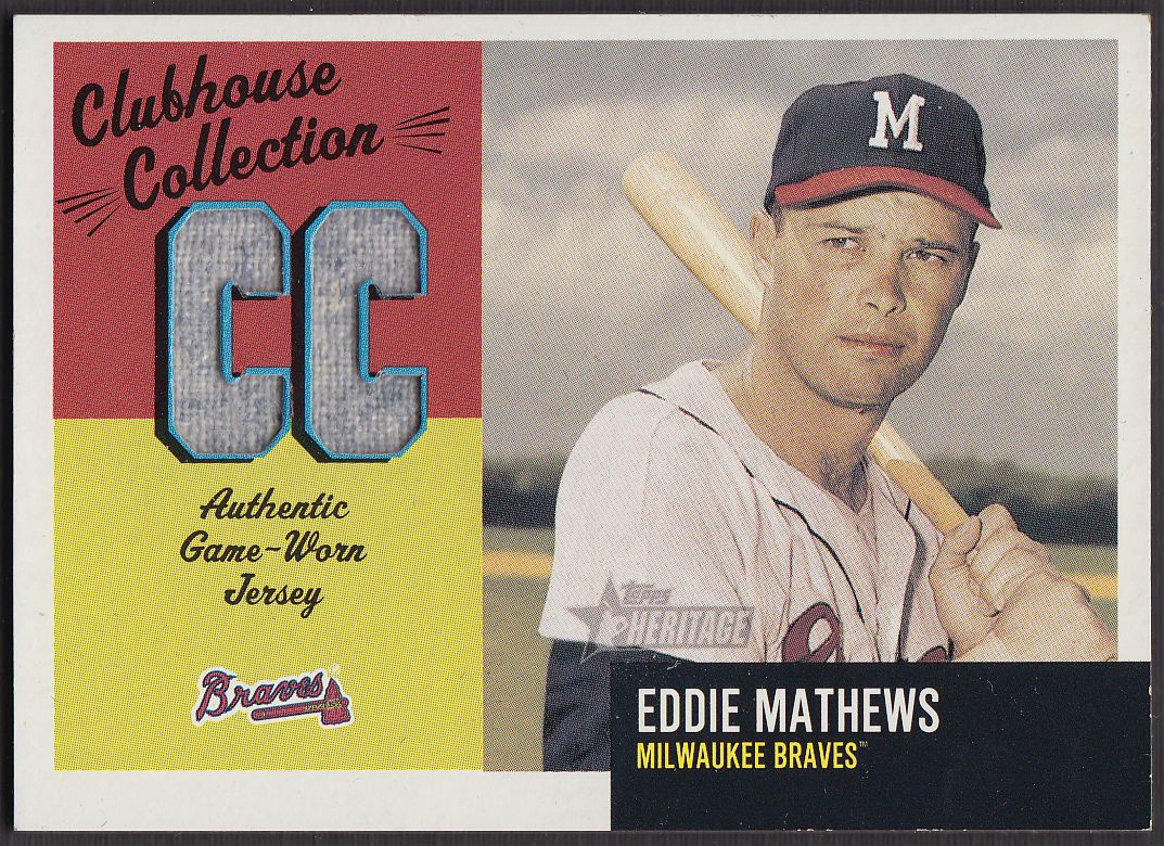 2002 Topps Heritage Clubhouse Collection #0  Eddie Mathews