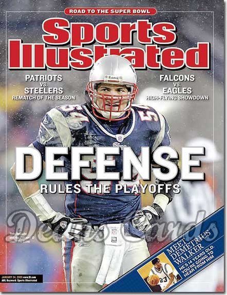 2005 Sports Illustrated - With Label   January 24  -  Tedy Bruschi New England Patriots Beat Indianapolis Colts
