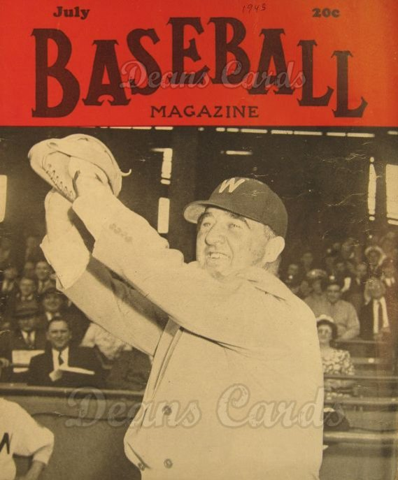 1945 Baseball Magazine    July