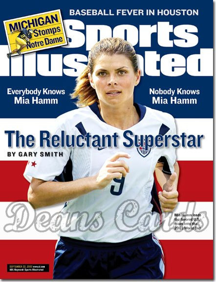 2003 Sports Illustrated - With Label   September 22  -  Mia Hamm USA Soccer