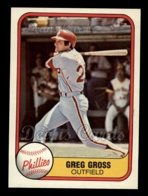 1981 Fleer #18  Greg Gross