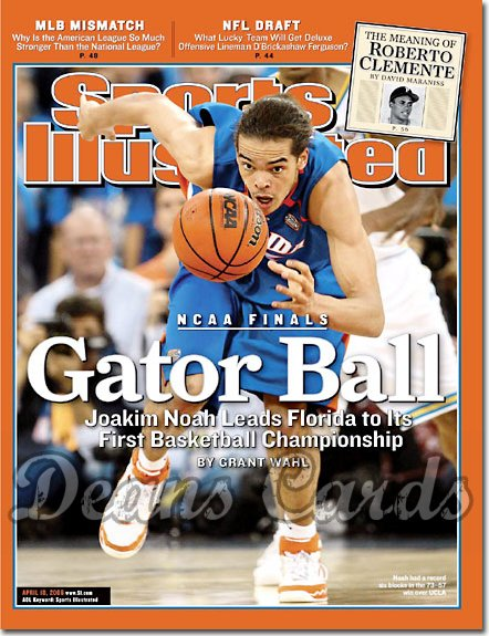 2006 Sports Illustrated   April 10  -  Joakim Noah (Florida Gators)