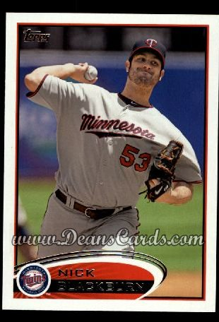 2012 Topps #316  Nick Blackburn