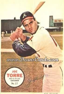 1967 Topps Poster Pin-Up Poster Inserts #27  Joe Torre