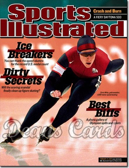 2002 Sports Illustrated   February 25  -  Chris Witty USA Speed Skating