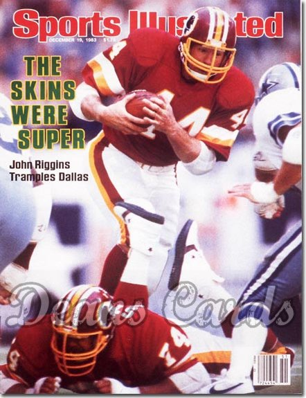 1983 Sports Illustrated - No Label   December 19  -  John Riggins (Washington)