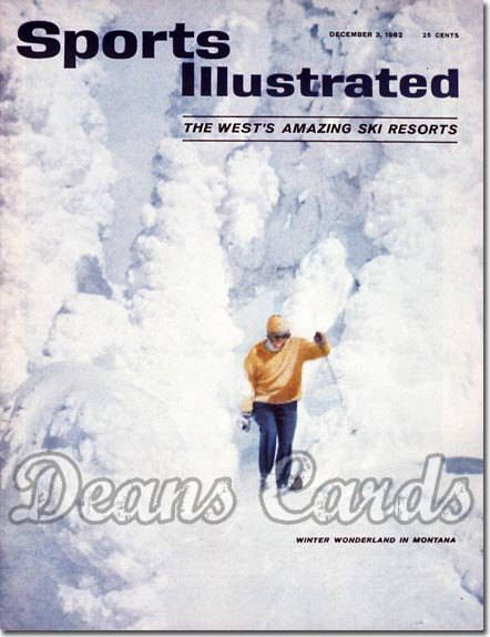 1962 Sports Illustrated - With Label   December 3  -  Montana Ski Resort