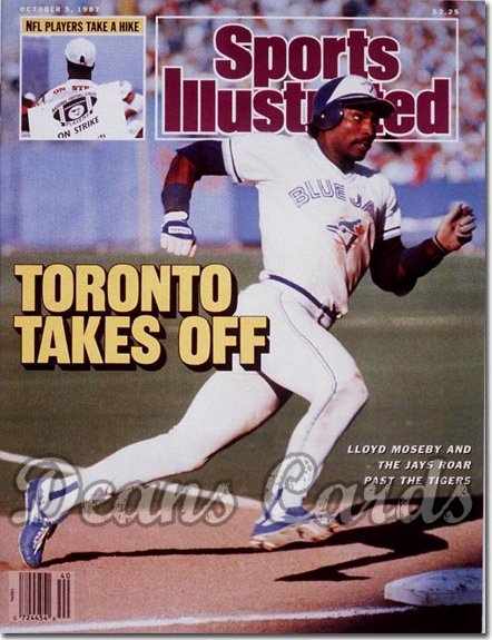 1987 Sports Illustrated - With Label   October 5  -  Lloyd Moseby (Toronto Blue Jays)