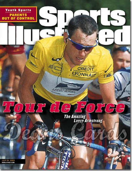 2000 Sports Illustrated - With Label   July 24  -  Lance Armstrong