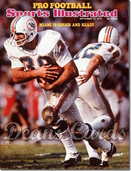 1973 Sports Illustrated - With Label   September 17  -  Larry Csonka / Bob Griese (Miami Dolphins)