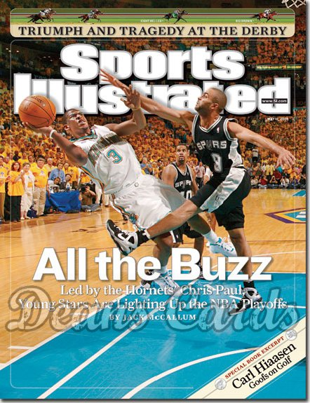 2008 Sports Illustrated - With Label   May 12  -  Chris Paul New Orleans Hornets