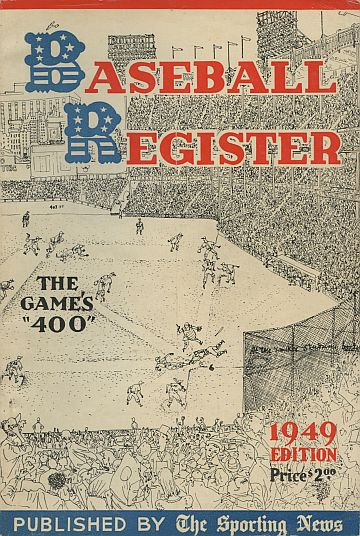 1949 Baseball Register    Issue