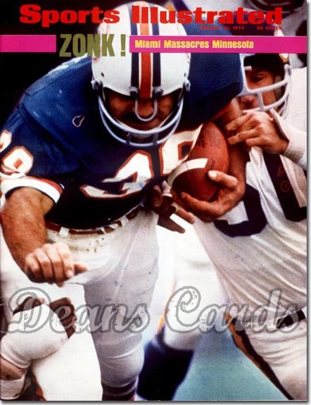 1974 Sports Illustrated - With Label   January 21  -  Larry Csonka (Miami Dolphins) (Super Bowl VIII)
