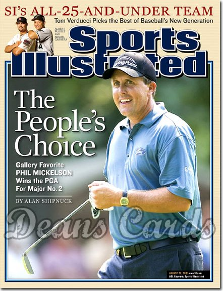 2005 Sports Illustrated - With Label   August 22  -  Phil Mickelson Wins The PGA Golf