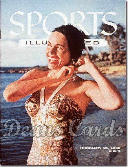 1955 Sports Illustrated - With Label   February 21  -  Betty DiBugnano (Swimsuit Model)