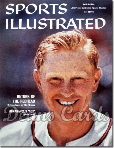 1960 Sports Illustrated - With Label   June 6  -  Red Schoendienst (St. Louis Cardinals)