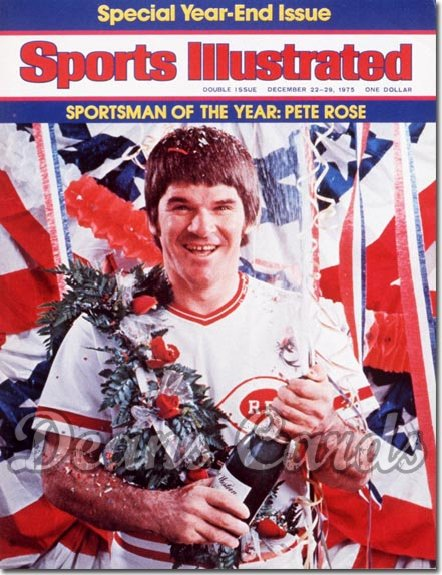 1975 Sports Illustrated - With Label   December 22  -  Pete Rose (Cincinnati Reds) (Sportsman of the Year)