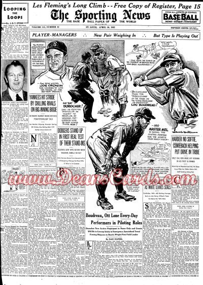 1942 The Sporting News   April 30  - Durocher