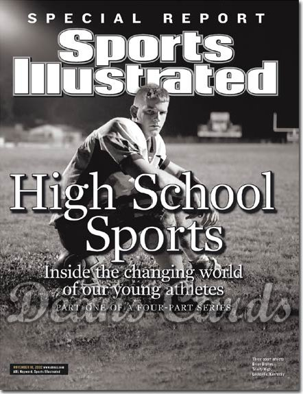 2002 Sports Illustrated   November 18  -  Brian Brohm Trinity High Shamrocks