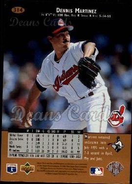 1996 Upper Deck #314  Dennis Martinez