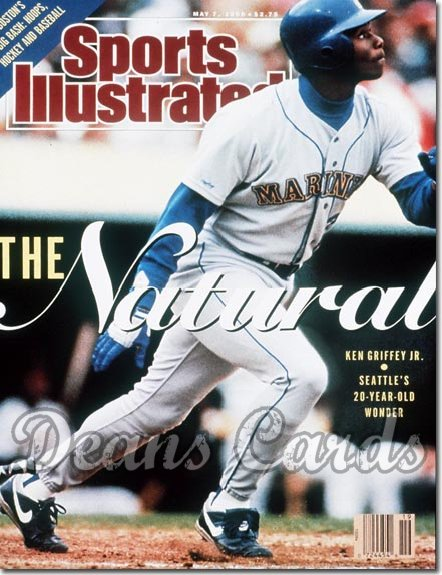 1990 Sports Illustrated - No Label   May 7  -  Ken Griffey Jr. (Seattle Mariners)