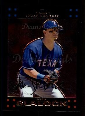2007 Topps Chrome #78  Hank Blalock